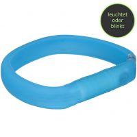 Flash Leuchthalsband USB XS-S 30cm/18mm blau