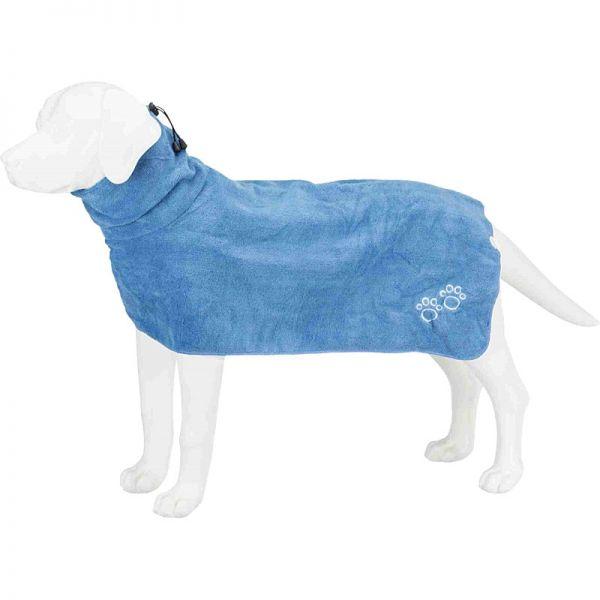 Trixie Bademantel für Hunde blau
