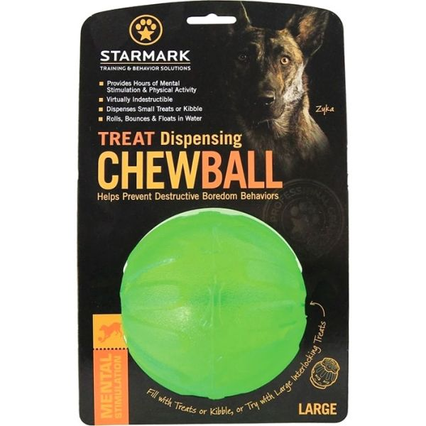 Starmark Treat Dispensing Chew Ball M/L