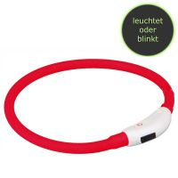 Trixie Flash Leuchtring USB L-XL 65cm/ø 10mm rot