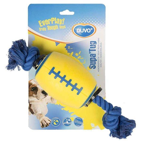 Duvo+ Supa'Tug Ball mit Knotenseil