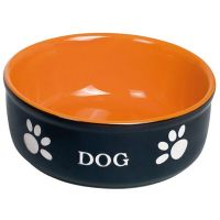 Nobby Keramiknapf Dog Ø 13,5 cm schwarz/orange