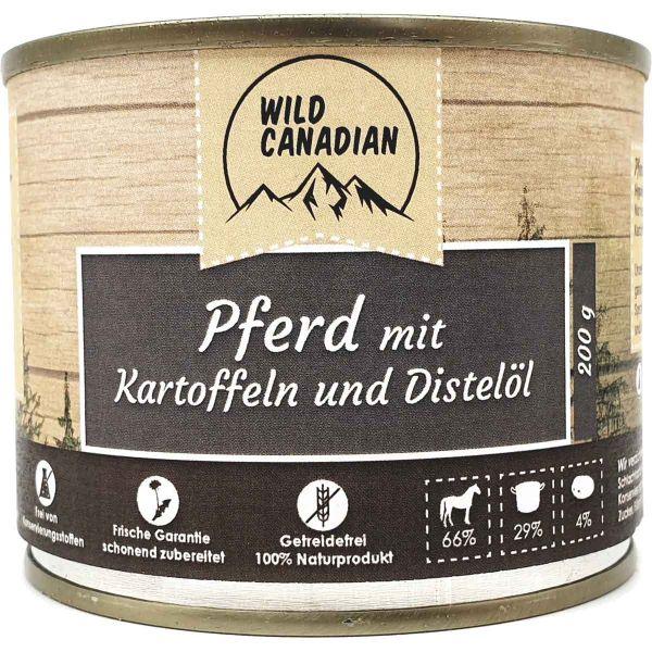 Wild Canadian Pferd mit Kartoffeln & Distelöl