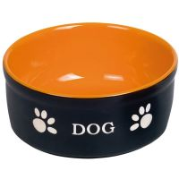 Nobby Keramiknapf Dog Ø 15,5 cm schwarz/orange