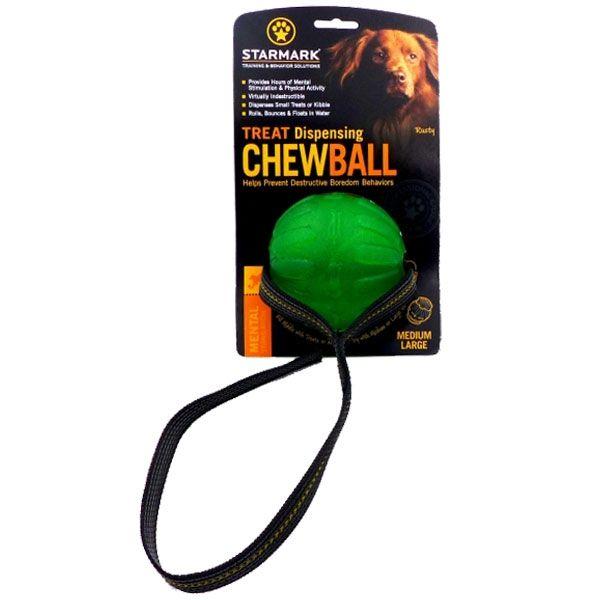 Starmark Treat Dispensing Chew Ball am Seil M/L