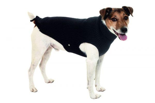 Hundepullover Lucky rot/schwarz, 36 cm