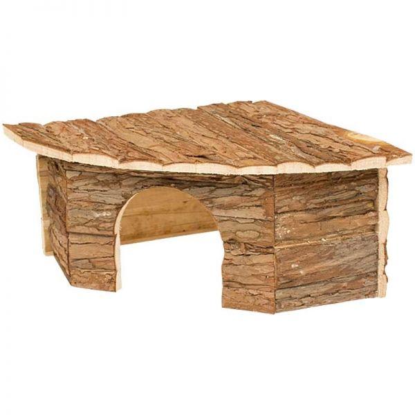 Duvo+ Holz Eckhaus für Nager 30x30x16cm