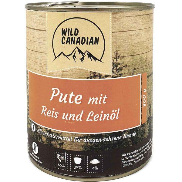 Wild Canadian Pute mit Reis & Leinöl