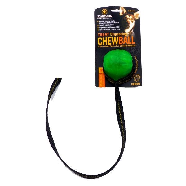 Starmark Treat Dispensing Chew Ball am Seil M