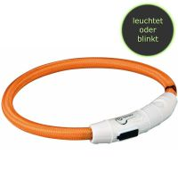 Trixie Flash Leuchtring USB XS-S 35cm/ø 7mm orange