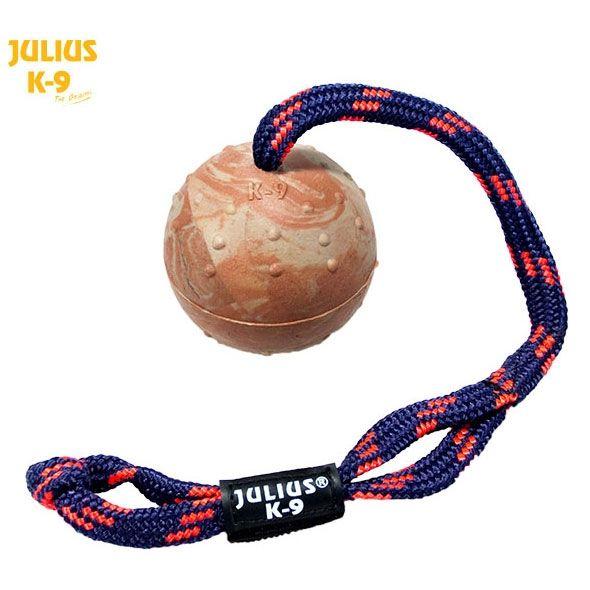 Julius K9 IDC Kautschukball Ø 7 cm mit Schlaufe