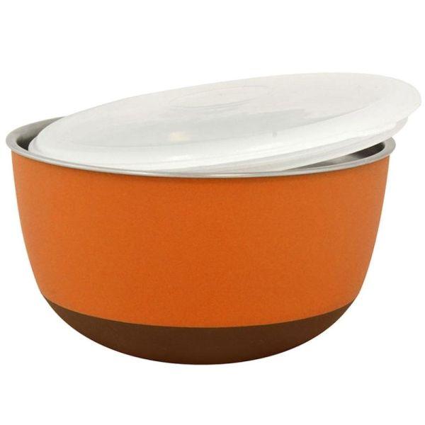 Duvo+ Edelstahlnapf Balance Ø 22,5cm orange 2900ml