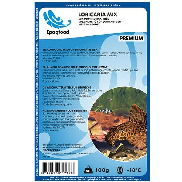 Epaqfood Loricaria Mix 100 g Blister