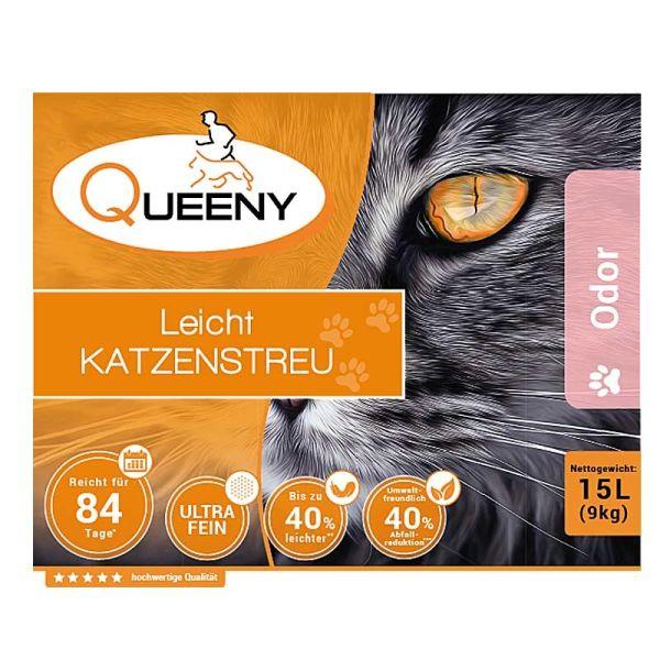Queeny Leichtkatzenstreu Odor 15 l