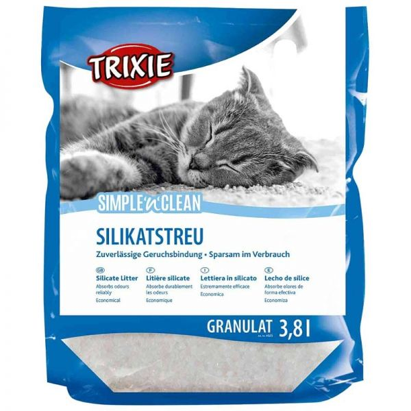 Trixie Simple'n'Clean Silikatstreu Granulat 3,8 L