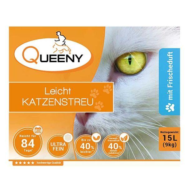 Queeny Leichtkatzenstreu mit Frischeduft 15 l