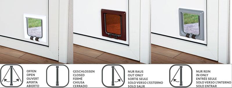 trixie 4 wege freilauft r f r katzen futter fundgrube. Black Bedroom Furniture Sets. Home Design Ideas