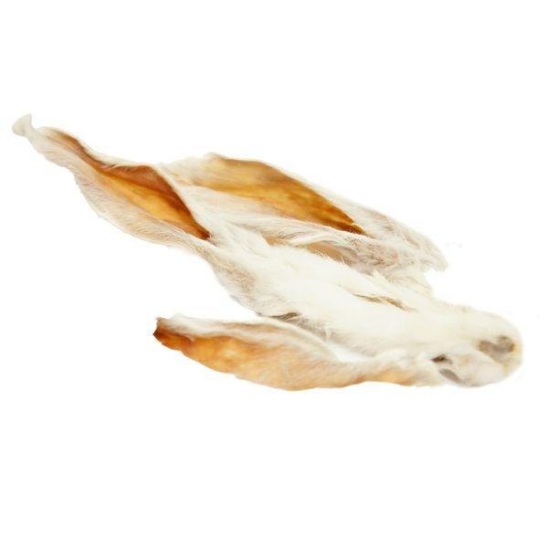 Getrocknete Kaninchenohren mit Fell