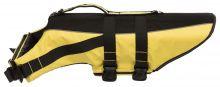 Schwimmweste für Hunde XL 65cm gelb/schwarz