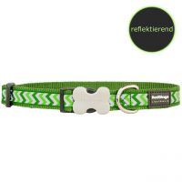 Red Dingo Halsband Reflective Ziggy Green, M