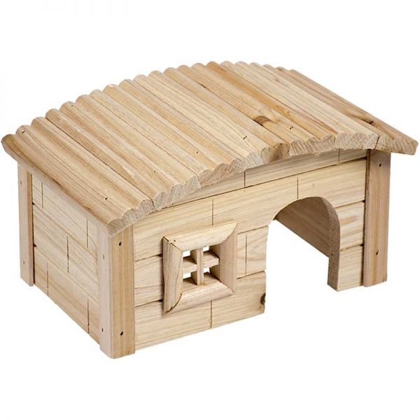 Duvo+ Holzhaus mit gewölbtem Dach 20,5x13x12cm