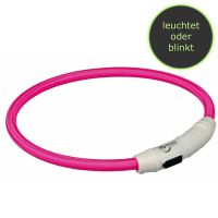 Trixie Flash Leuchtring USB M-L 45cm/ø 7mm pink