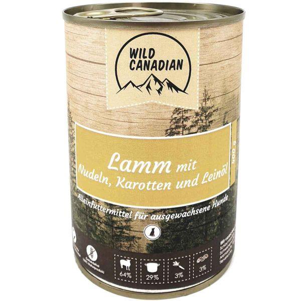Wild Canadian Lamm mit Nudeln, Karotten & Leinöl
