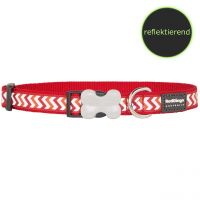 Red Dingo Halsband Reflective Ziggy Red, XS