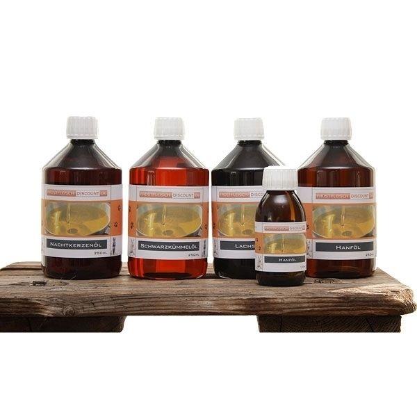 BARF Öl-Set: Lachs, Lein, Borretsch, Hanf 4x250ml