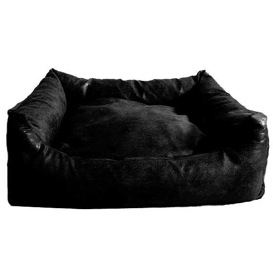 Hundesofa Antiqua mit Wendekissen schwarz