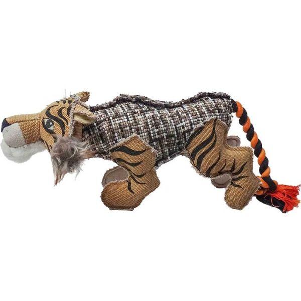 Duvo+ Canvas Tiger mit Seil 13x34x15cm