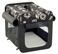 Smart Top Floral Faltbox, schwarz 46 x 41 x 36 cm