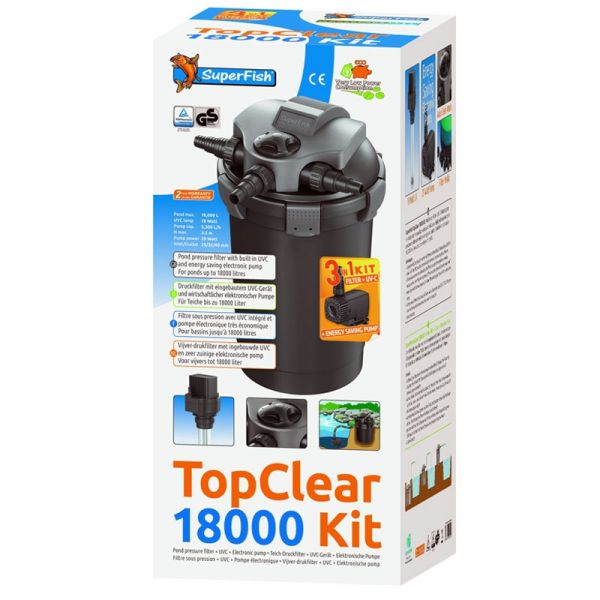 Superfish TopClear 18000 Kit 18W UVC Pumpe 5300l/h