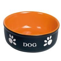 Nobby Keramiknapf Dog Ø 12 cm schwarz/orange