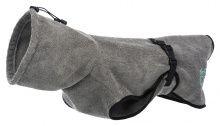 Trixie Bademantel für Hunde grau