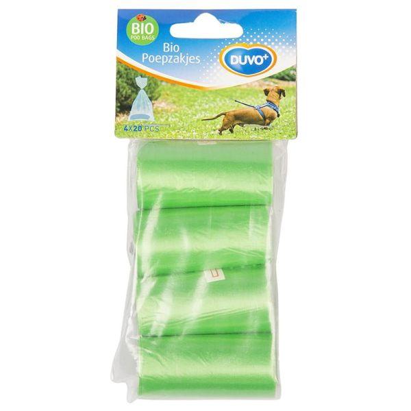 Duvo+ Bio Kotbeutel 4 x 20 Stück grün